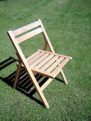 Vintage Beech Wooden Folding Chair
