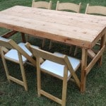 rustic vintage farmhouse table hire